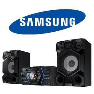 NEW OB SAMSUNG GIGA SOUND SYSTEM MX-JS5000 126789625 1600W 8'' SPEAKER SIZE AUDIO HOME THEATRE NEW OPEN BOX PRODUCT