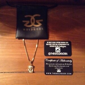 18k pvd gp Jesus Piece Necklace