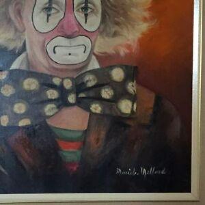 Peinture ''Muriel Millard'' Clown no.544-Sonny Fossett 16''x20'' West Island Greater Montréal image 2