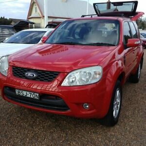2010 Ford Escape ZD Red 4 Speed Automatic Wagon Raymond Terrace Port Stephens Area Preview