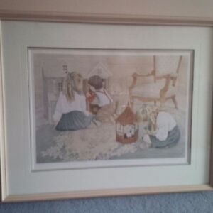 Authentic framed print for babies room