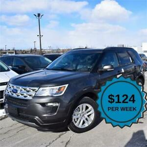 2019 Ford Explorer XLT| Nav| 4WD| Roof| ACTIVE X SEATING|$124/wk