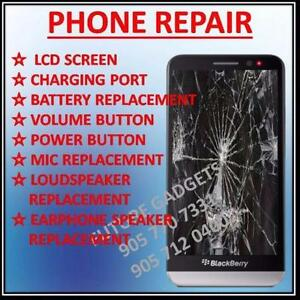 Blackberry Q5 Q10 Q20 Z10 Z30 Passport L.C.D Screen Replacement Liquid damage repair Charging Port Replacement Service