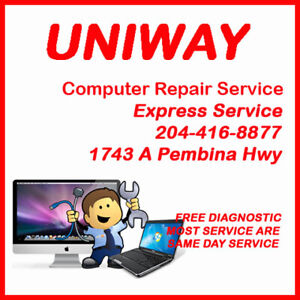 UNIWAY Pembina Rapid & Reliable Computer Repair FREE Estimate