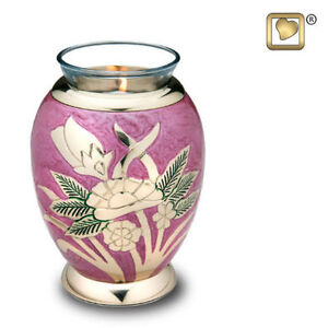 BEAUTIFUL TEA LIGHT CREMATION URN CANDLES NOW AVAILABLE