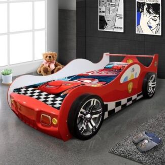 kids racing car bed single size new model red