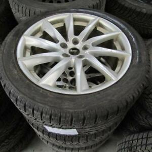 2013 Jaguare XF Winter Tire Package On Factory Alloys Size 245/45/18 With