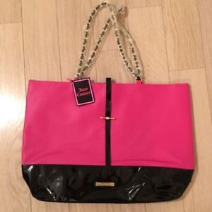 Juicy Couture Large Pink and Black Purse