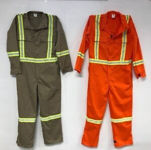 High visibility coveralls made in Canada
