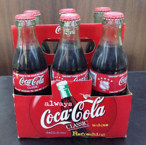 1999 & 2000 Coca Cola / coke 6 pack bottles with carriers Cambridge Kitchener Area image 5