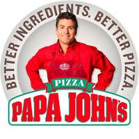 PAPA JOHN'S PIZZA MILLWOODS - HIRING FULL TIME