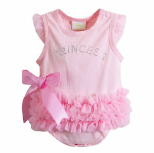 *NEW* Cute Pink Princess Baby Girl Bodysuit Onesie Jumpsuit