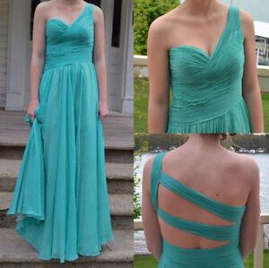 Full Length Tiffany Blue Prom Dress