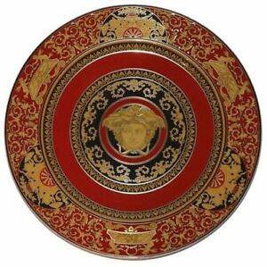 Gianni Versace Red Medusa Large Charger plate