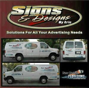 Van Wraps, Lettering, Vinyl Graphics, Signs, Vinyl Decals      W Windsor Region Ontario image 1