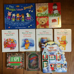 CHRISTMAS BOARD BOOKS $2 each or all 9 for $15