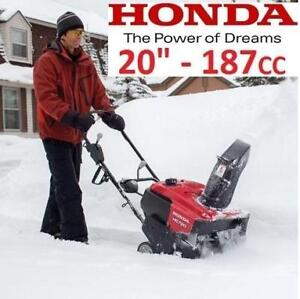 "NEW* HONDA GAS SNOW BLOWER 20"" HS720AA 215203963 187CC SINGLE STAGE SNOW THROWER SNOWBLOWER WINTER"
