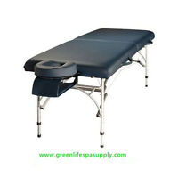 MTA121- ALUMINUM 2 SECTION MASSAGE TABLE AND ACCESSORY KIT