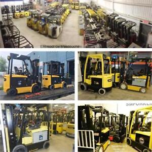 2011 a 2015 Hyster Yale Toyota 3 a 6500 lbs chariots electriques
