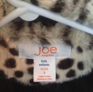 ###Reduced leopard faux-fur winter jacket joe Fresh - SIZE 8 Kingston Kingston Area image 3