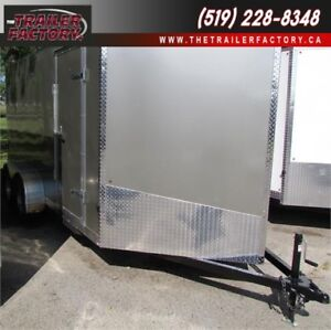 New Cargo Trailer 7'x14' V-Nose Pewter, Financing Available
