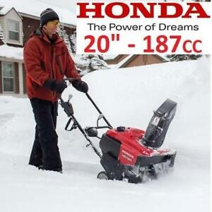 "NEW* HONDA GAS SNOW BLOWER 20"" HS720AA 214560778 187CC SINGLE STAGE SNOW THROWER SNOWBLOWER WINTER"