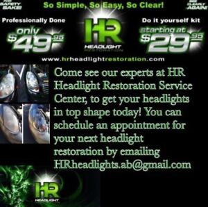 HR HEADLIGHT RESTORATION $50 set