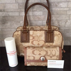 Authentic Coach signature purse with matching wallet