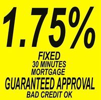 MORTGAGE FOR 1.75% GUARANTEED APPROVAL WITH NO CREDIT