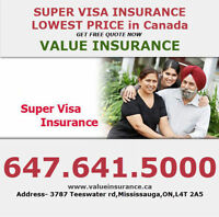 Super Visa/Travel insurance at MONTHLY rates 416.992.1274