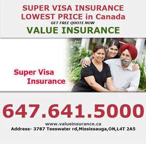 Super Visa/Travel insurance at lowest rates call 416.992.1274