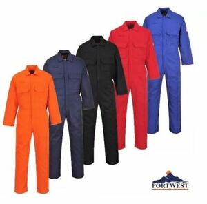 Portwest BizWeld Flame Resistant Coverall Boilersuit Welding - M