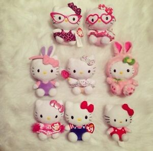 Collection of 8 Hello Kitty ty beanie babies