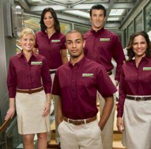 Imprint on CLOTHING Company - We Print Staff Shirts