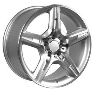 """18"""" MERCEDES BENZ - AMG WHEEL - SILVER/MACHINED FACE 18x8.5"""