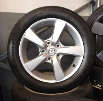 "16"" Secondhand Alloys - Mazda 3 Factory & 205-55-16 Tyre Package Toowoomba 4350 Toowoomba City Preview"
