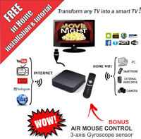 INSTALLED Android tv box NEWEST FULLY CUSTOMISED w/ AIR MOUSE