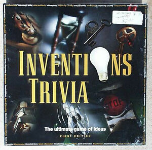 Inventions Trivia- 1st Edition game-hard to find