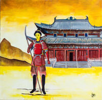 "Original Oil Painting ""Samurai Woman"" for sell"
