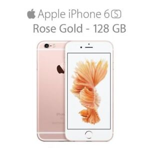 MINT IPHONE 6S 128GB ROSE GOLD UNLOCKED 3 MONTHS WARRANTY $399