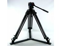 Like New: Tripod Vinten Pro Touch 5 + fluid head, PT520 legs, plate, spreader, Manfrotto bag ONO