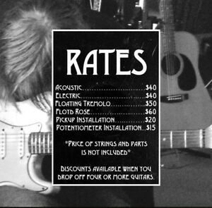 High quality guitar setup service in downtown Toronto