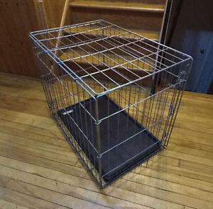Medium 2-Door Dog Crate with-Pan, Cage Kennel
