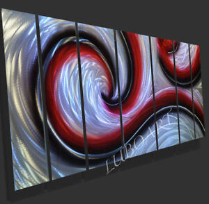 wall decor abstract grind painted METAL modern 3D contemporary