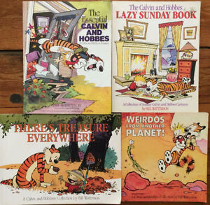CALVIN AND HOBBES collection 4 books for $20 London Ontario image 1