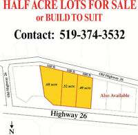 Lots for sale near Meaford and Thornbury