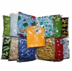 New One Size Cloth Diapers Kits - Diapers, Inserts, Wet Bag