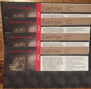 ~ Air Canada Maple Leaf Lounge Passes - 4x ~