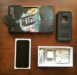 iPhone 5S, Space Gray, 16GB + case Lifeproof Fre