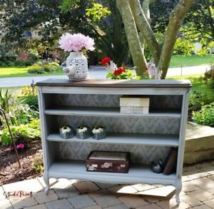 Creatively Painted and Refinished French Provincial Bookcase